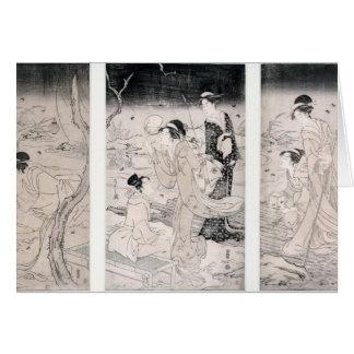 Luciérnagas de la caza en el anochecer, 1796-97 tarjeta de felicitación