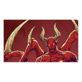 Lucifer el diablo, el príncipe de la oscuridad, tarjetas de visita