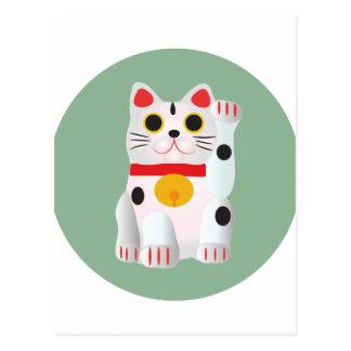 Lucky cat El gato de la fortuna Postal