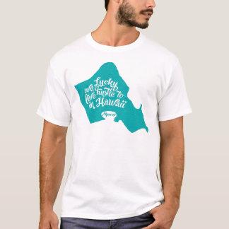 LuckyWeLiveHI-Turquesa Camiseta