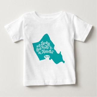 LuckyWeLiveHI-Turquesa (niño) Camiseta De Bebé
