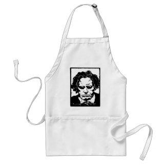 Ludwig van Beethoven - compositor alemán famoso Delantal