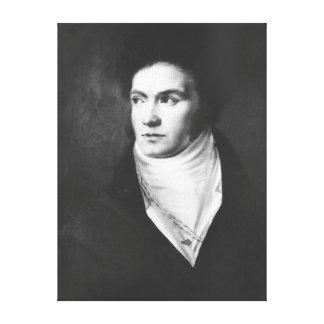 Ludwig van Beethoven joven 1806 Impresión De Lienzo