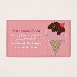 Lugar del helado tarjeta de negocios