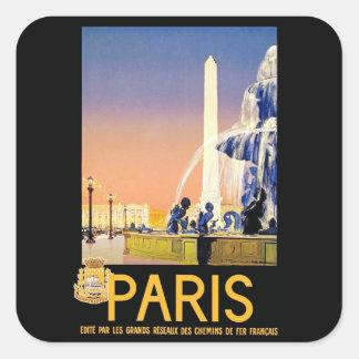 Lugar del la Concorde del ~ de París Pegatina Cuadrada