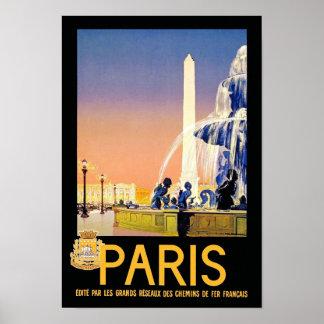 Lugar del la Concorde del ~ de París Póster