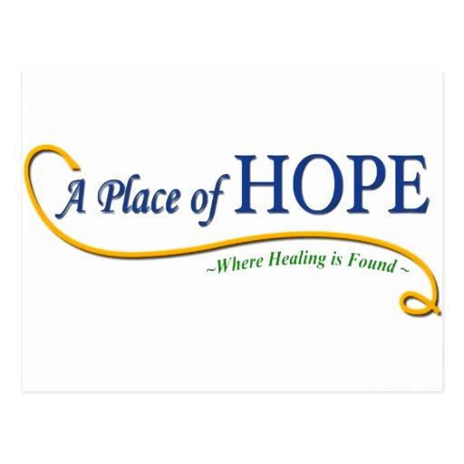 Lugar del logotipo de la esperanza postal