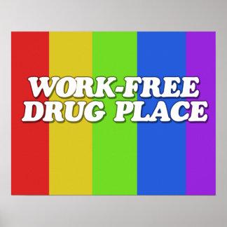 Lugar del medicamento sin receta del trabajo póster