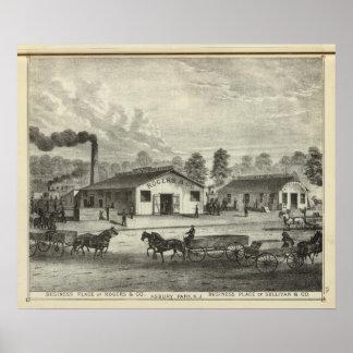 Lugares del negocio de Rogers y Co y Sullivan y Co Póster