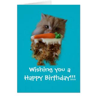 Luigi la tarjeta de cumpleaños del gato del león