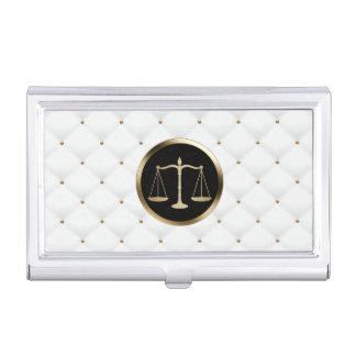 Lujo del logotipo de la escala del oro del abogado cajas de tarjetas de presentación