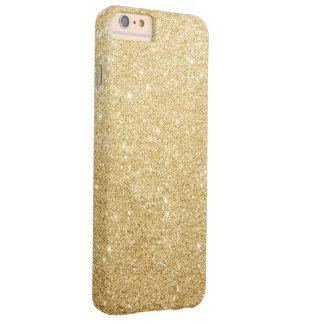 Lujo elegante Bling del brillo del oro Funda De iPhone 6 Plus Barely There
