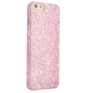 Lujo rosado elegante del brillo funda de iPhone 6 plus barely there