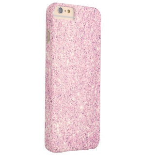 Lujo rosado elegante del brillo funda para iPhone 6 plus barely there