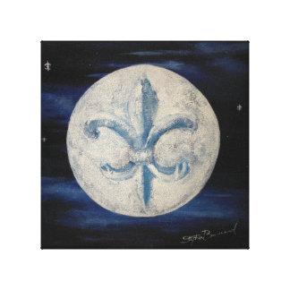 """Luna 10"""" de la flor de lis x 10"""" impresión de la"""