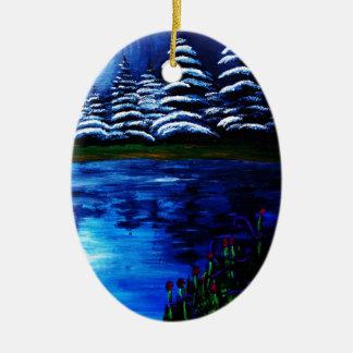 Luna Adorno De Navidad