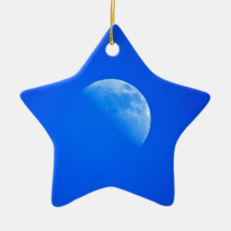 luna adorno de cerámica en forma de estrella