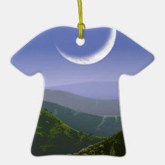 Luna alto Rez.jpg Adorno De Cerámica En Forma De Camiseta
