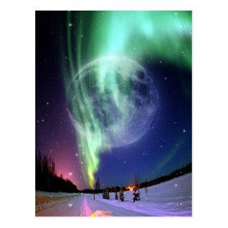 Luna azul llena grande brillante hermosa mística postal