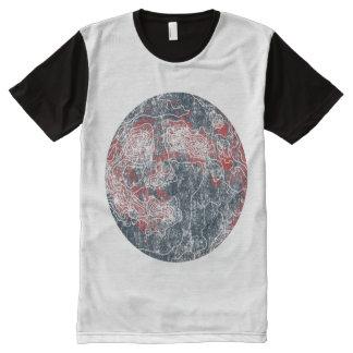 luna camiseta con estampado integral
