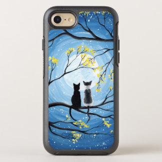 Luna caprichosa con los gatos funda OtterBox symmetry para iPhone 8/7