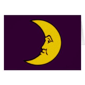 Luna cara de luna moon face tarjetón