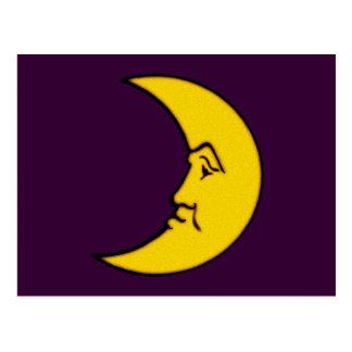 Luna cara de luna moon face postal