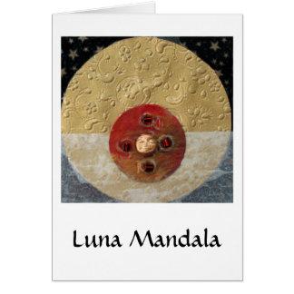 Luna - collage tarjeta de felicitación