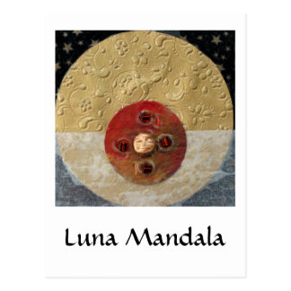 Luna - collage tarjeta postal