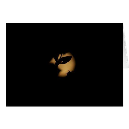 Luna de la mascarada tarjeta de felicitación