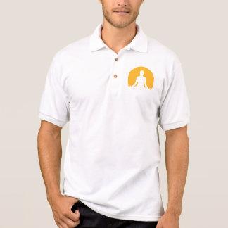 Luna de la meditación polo camisetas