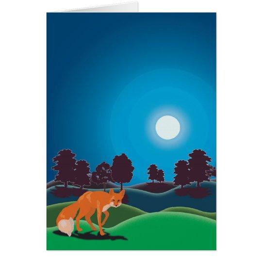 Luna de los cazadores tarjeta de felicitación