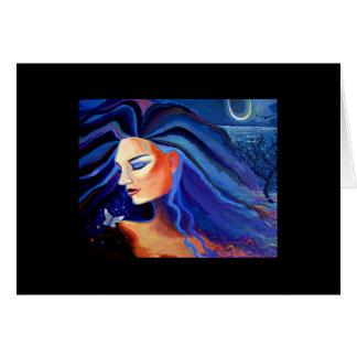 Luna de Piscean - tarjeta de felicitación de la di