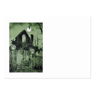 Luna del fantasma de la linterna de Jack O de la Tarjetas De Visita Grandes