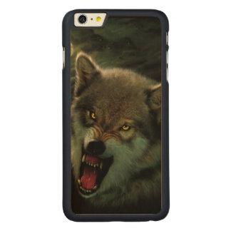Luna del lobo funda para iPhone 6 de carved® de arce