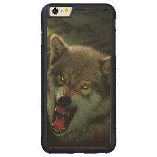 Luna del lobo funda para iPhone 6 plus de carved® de nogal