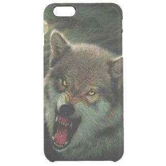 Luna del lobo funda transparente para iPhone 6 plus