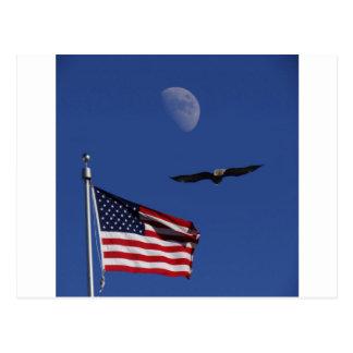 Luna Eagle de la bandera Postal