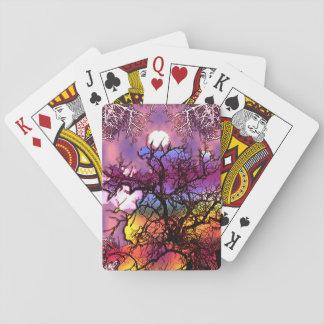 Luna en el árbol… barajas de cartas