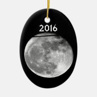 ¡Luna estupenda con el paso/personalizable del Adorno De Cerámica