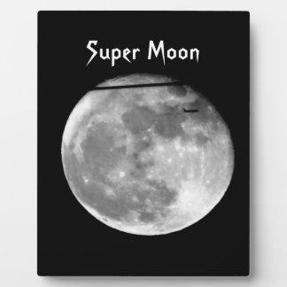¡Luna estupenda con el paso/personalizable del Placa Expositora