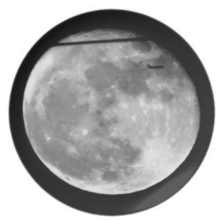 ¡Luna estupenda con el paso/personalizable del Platos Para Fiestas