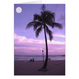 Luna hawaiana tarjeta de felicitación
