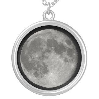 Luna Llena Collar Plateado