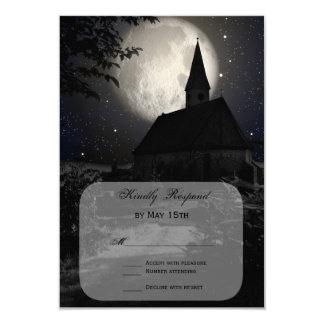 Luna Llena de la iglesia del país que casa las Invitación 8,9 X 12,7 Cm