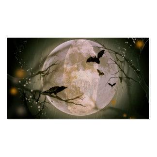Luna Llena espeluznante con los pájaros Tarjetas De Visita
