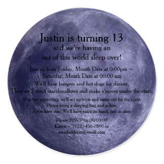 Luna Llena Invitación 13,3 Cm X 13,3cm