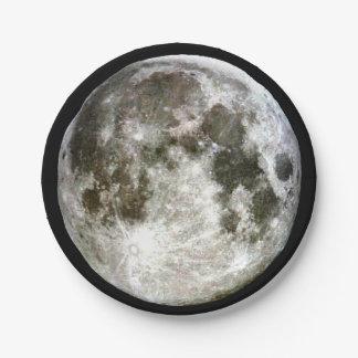 Luna Llena Plato De Papel