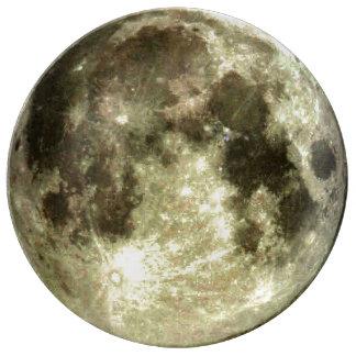 Luna Llena Plato De Porcelana