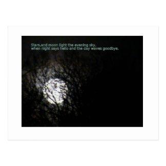Luna Llena y poema Postal